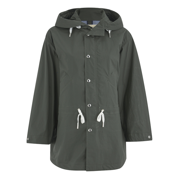 Maison Kitsuné Women's Coated Parker Jacket - Khaki