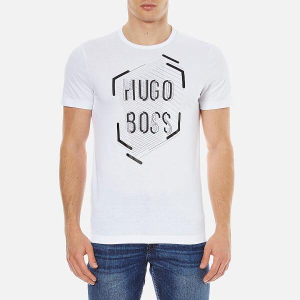 BOSS Green Men's Tee 1 Printed T-Shirt - White