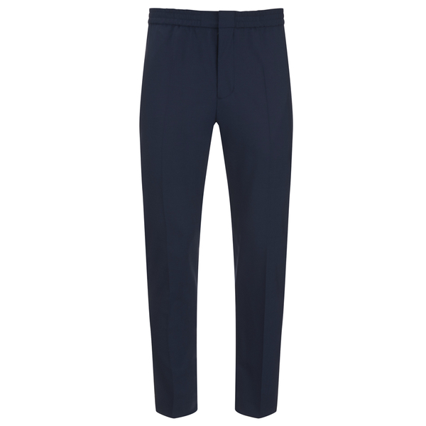 MSGM Men's Slim Fit Casual Trousers - Navy