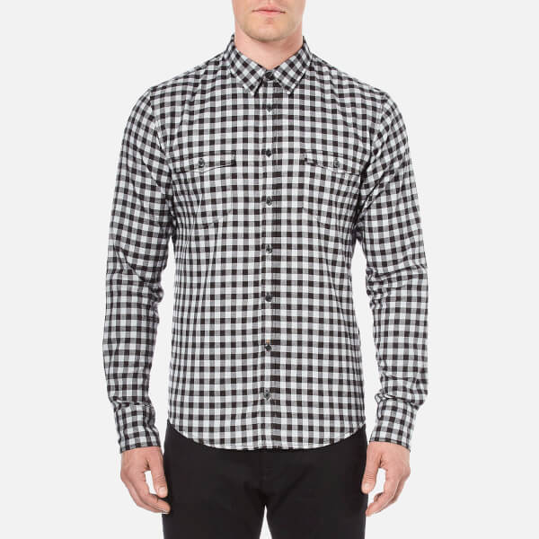 BOSS Orange Men's Edoslime Flannel Check Shirt - Black