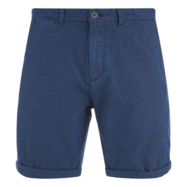 Scotch & Soda Men's Herringbone Slim Fit Shorts - Navy