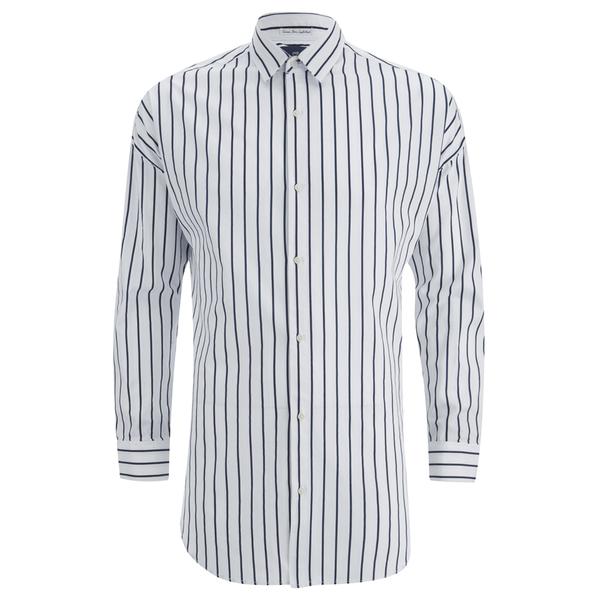 Scotch Soda Men 39 S Striped Oxford Shirt White Free Uk