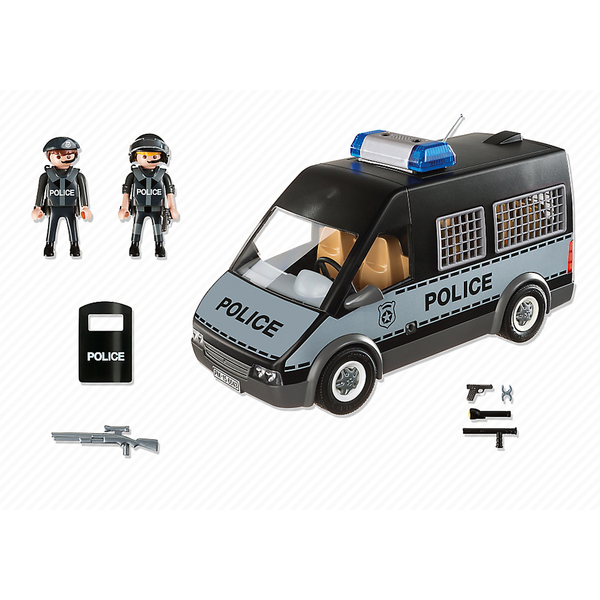 Playmobil City Action Police Van with Lights and Sound ...