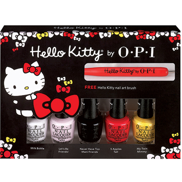 Pack de mini esmaltes de uñas Hello Kitty Friend de OPI (pack de 5 ...