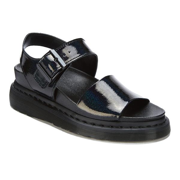 9a686590bdd9 Dr. Martens Women s Shore Romi Petrol Leather Y Strap Sandals - Black   Image 2
