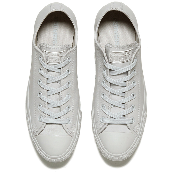 41f38194db8cf0 Converse Men s Chuck Taylor All Star Mono Craft Leather Ox Trainers -  Mouse  Image 2