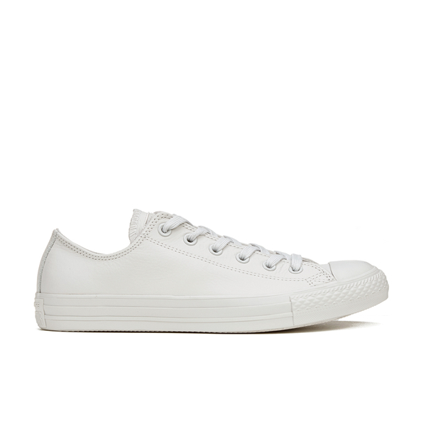 e7d1667aba0 Converse Men s Chuck Taylor All Star Mono Craft Leather Ox Trainers -  Mouse  Image 1