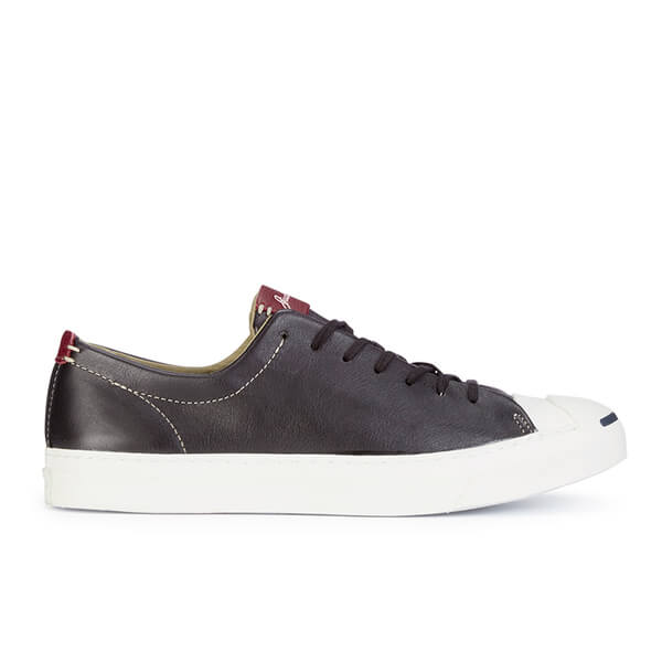 Converse Jack Purcell Men's WR Tumbled Leather Trainers - Black/Egret