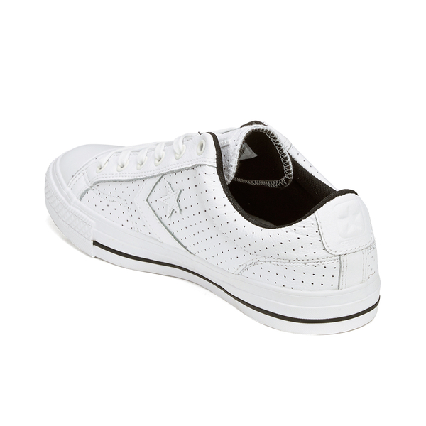converse star player white leather
