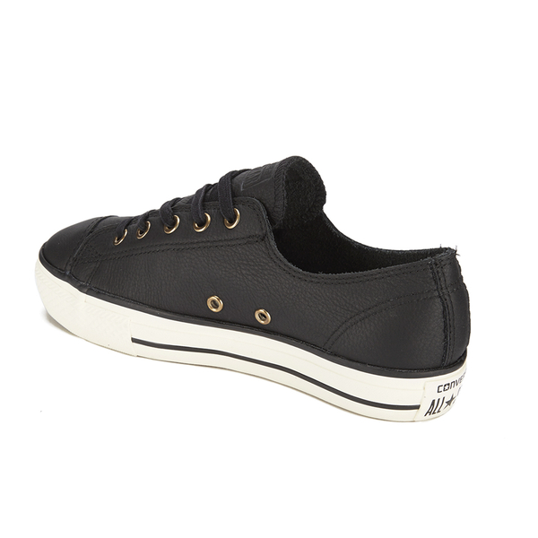 All Star Leather Ox Converse- Black trainers