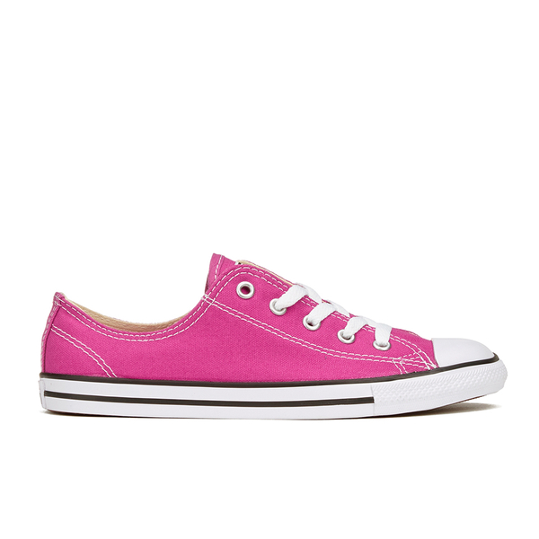 Converse Women's Chuck Taylor All Star Dainty Ox Trainers - Plastic Pink/Black/White