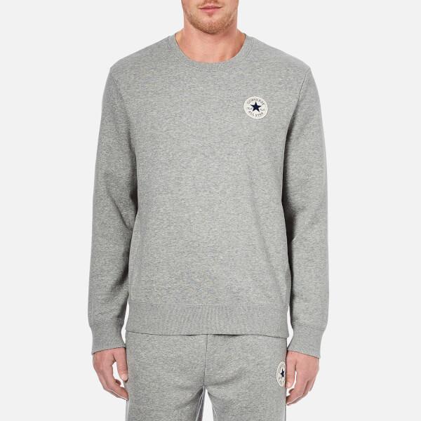 312794e7943 Converse Men s Crew Neck Sweatshirt - Vintage Grey Heather Mens ...