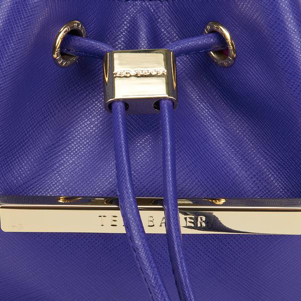 7291e0190 Ted Baker Women s Ersilda Metal Bar Mini Bucket Crossbody Bag - Bright  Blue  Image 3