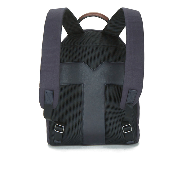 f7616bad0a6da Ted Baker Men s Brandor Canvas and Leather Backpack - Navy  Image 5