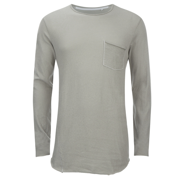 rag & bone Men's Hartley Long Sleeve Pocket T-Shirt - Granite