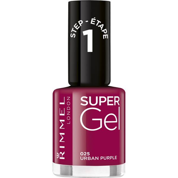Kit Vernis à ongles super gel Duo  Rimmel (2 x 12ml) - Violet Urbain