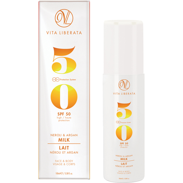 vita liberata lait au neroli argan spf 50 100ml. Black Bedroom Furniture Sets. Home Design Ideas
