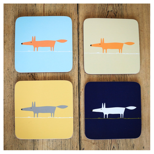 Scion mr fox coasters set of 4 homeware for Cute homeware accessories