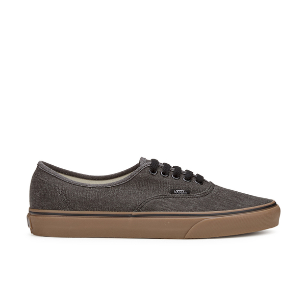 Vans Men s Authentic Washed Canvas Trainers - Black Gum Mens ... 730eb4131