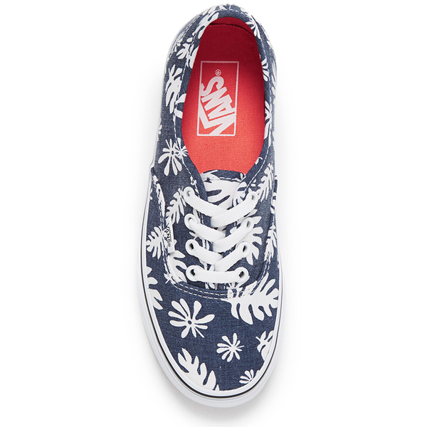 7a826f3a3e Vans Unisex Authentic Washed Kelp Trainers - Navy White  Image 3
