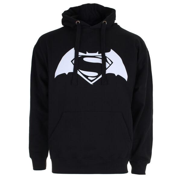 DC Comics Men's Batman v Superman Logo Hoody - Black