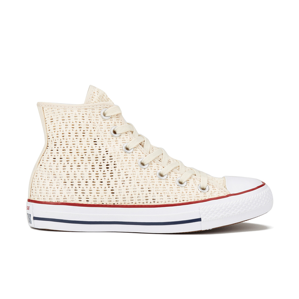 Converse Women's Chuck Taylor All Star Crochet Hi-Top Trainers - Parchment/White