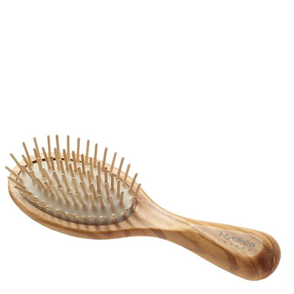 Hydrea London Olive Wood Handbag Size Anti Static Hair Brush