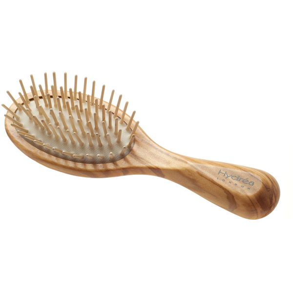 Hydrea London Olive Wood Handbag Size Anti Static Hair Brush