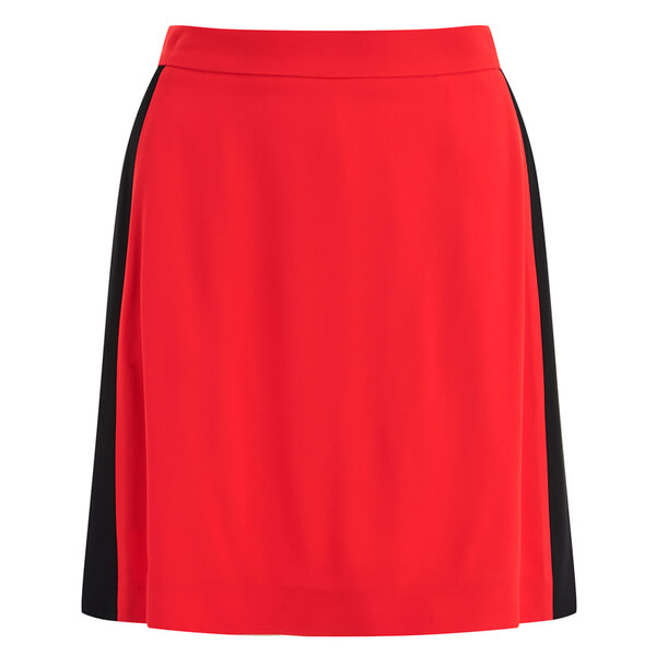 MSGM Women's Contrast Panel Skirt - Orange