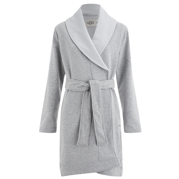 UGG Women\'s Blanche Dressing Gown - Seal Heather Grey - Free UK ...