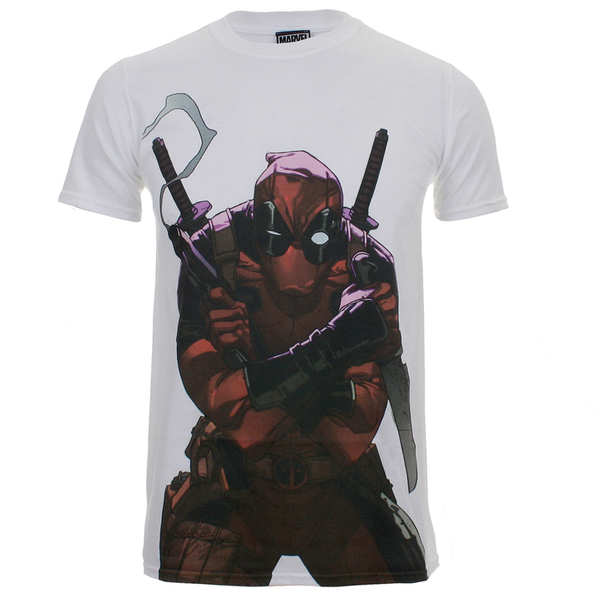Marvel Men's Deadpool Character T-Shirt - White