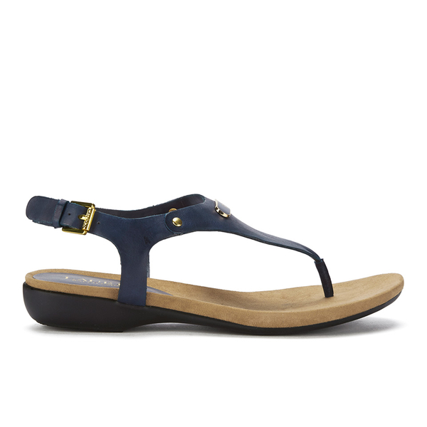 Lauren Ralph Lauren Women's Kally Leather Sandals - Modern Navy