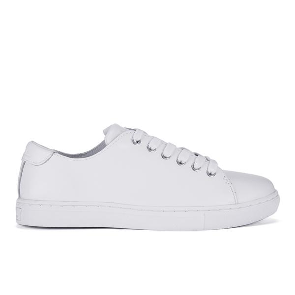 a031d2152 Lauren Ralph Lauren Women s Waverly Leather Trainers - White  Image 1