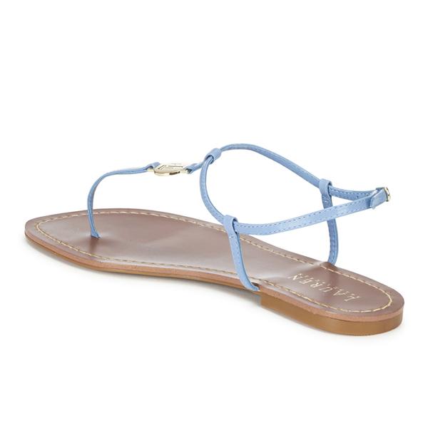 b8bdc55e3a4a Lauren Ralph Lauren Women s Aimon Leather Sandals - Polo Tan  Image 4