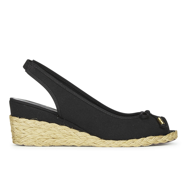 Lauren Ralph Lauren Women's Camille Canvas Wedged Espadrilles - Black