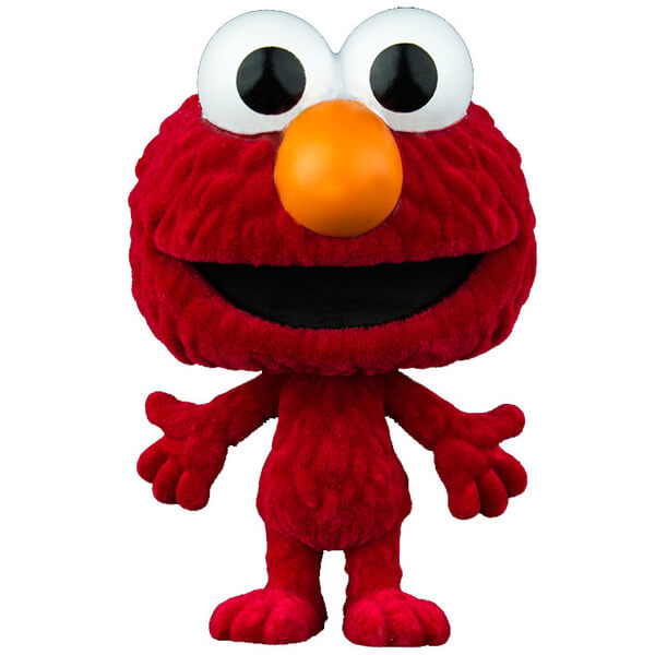Sesame Street Elmo Flocked Pop! Vinyl