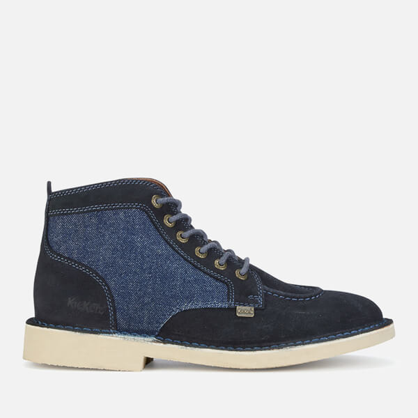 Kickers Men's Legendary Suede Lace Up Boots - Dark Blue