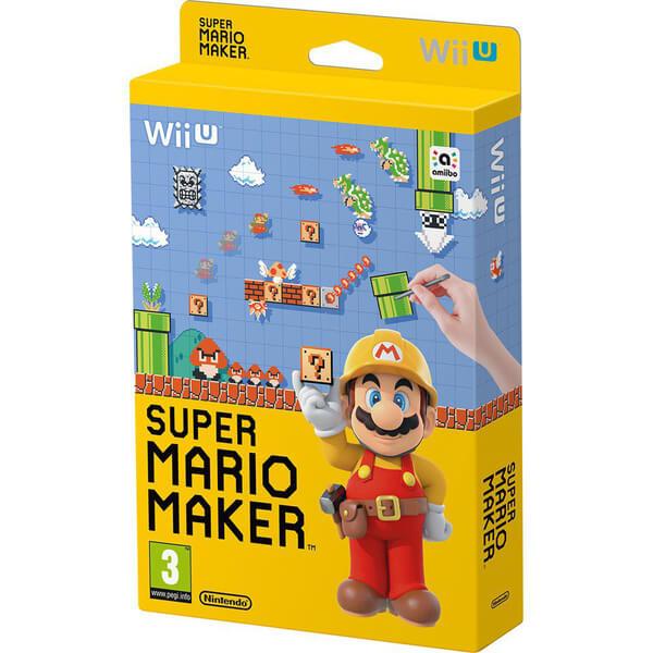 Super Mario Maker + 8-Bit Mario Soft Toy Nintendo UK Store