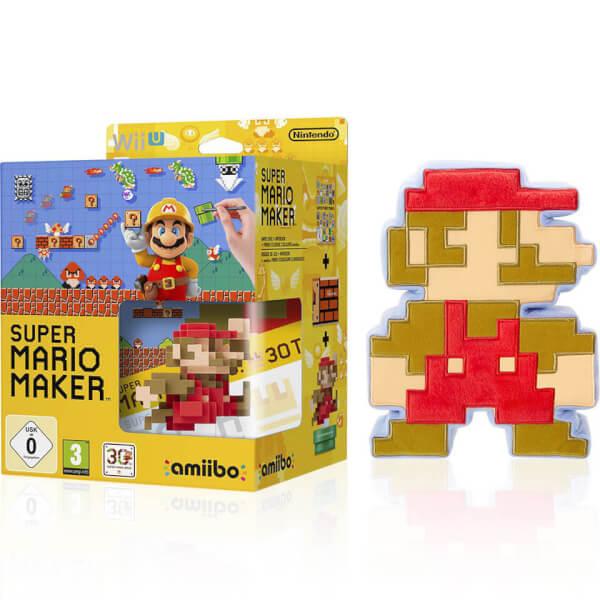 Squishy Super Mario Maker : Super Mario Maker + Mario Classic Colours amiibo + 8-Bit Mario Soft Toy Nintendo Official UK Store