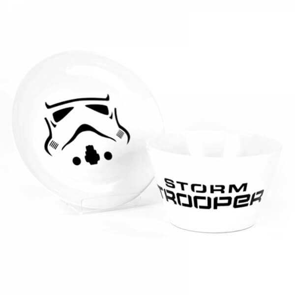 Bol et Assiette en Céramique + Boite Cadeau Star Wars Stormtrooper