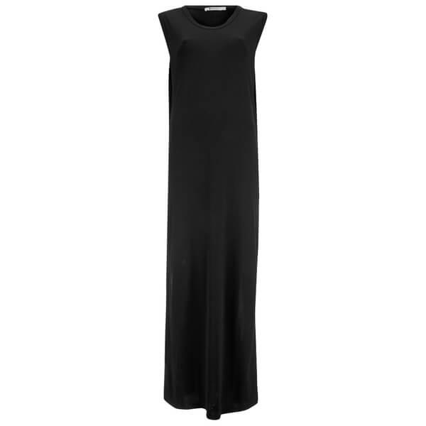 T by Alexander Wang Women's Rayon Matte Jersey Sleeveless Tank Dress - Black