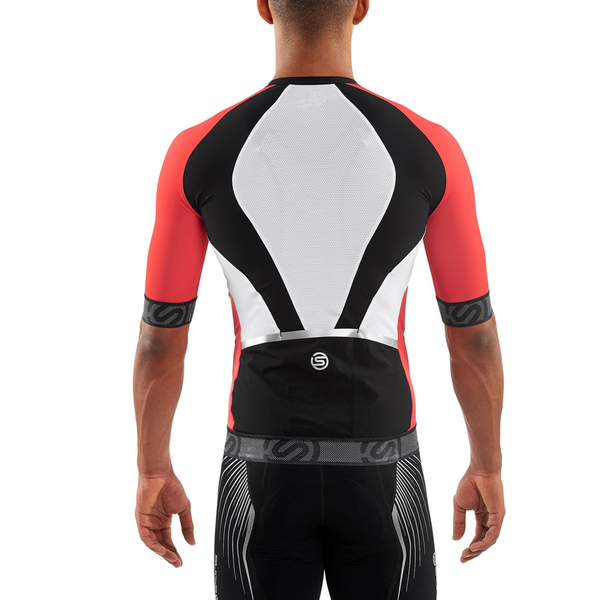 Skins Cycle Men s Tremola Due Short Sleeve Jersey - Black White Red  Image 90c98813e