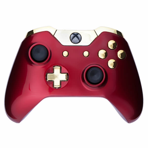 Custom Controllers Xbox One Wireless Custom Controller - Crimson Red & Gold