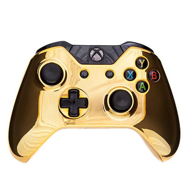 Xbox One Wireless Custom Controller - Chrome Gold Edition ...