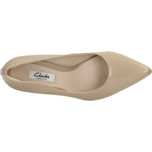 Clarks Women s Dinah Keer Leather Court Shoes - Sand Womens Footwear ... c1c7a74742
