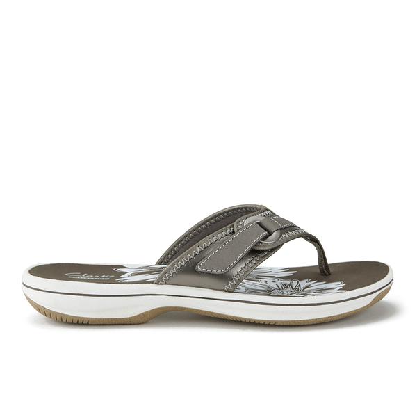 26e26feb8518db Clarks Women s Brinkley Mila Toe Post Sandals - Pewter  Image 5
