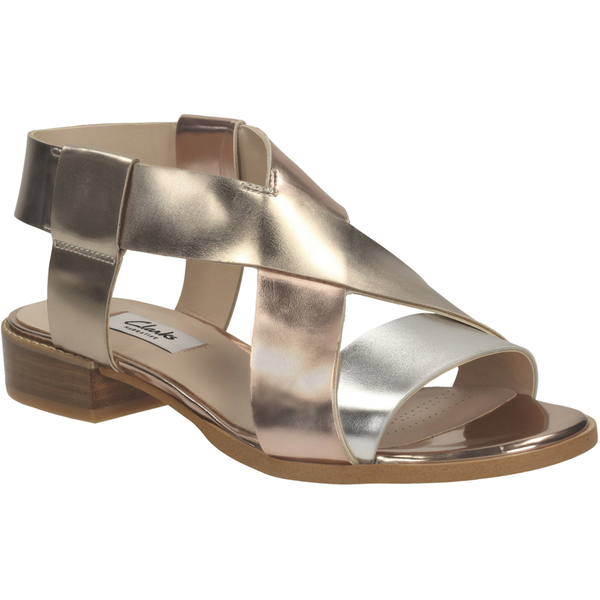 Clarks Bliss Meadow Sandals Color Bronze and Gold  Women