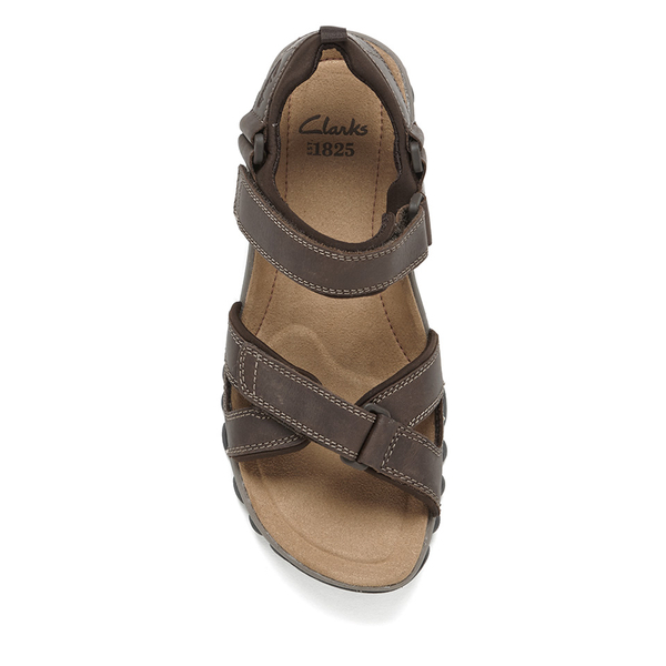 16c334cd23bc5 Clarks Men s Vextor Part Nubuck Sandals - Tobacco Mens Footwear ...