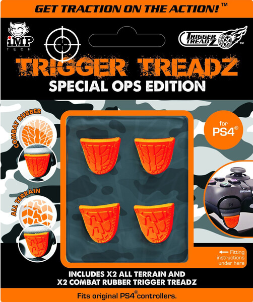 Grips de pouce Trigger TreadZ Special Ops Edition 4 Pack