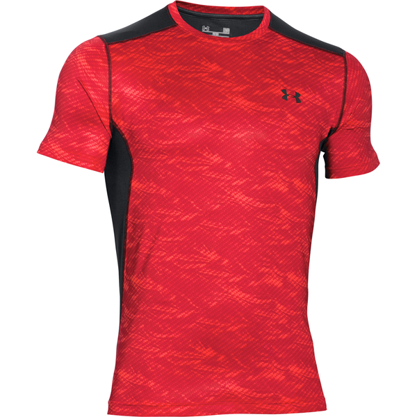 Under armour men 39 s raid short sleeve t shirt red black for Under armour men s shirts clearance